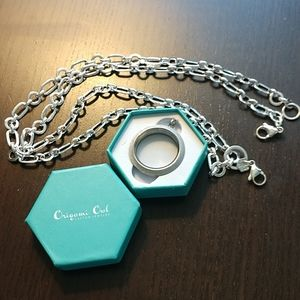 "Origami Owl Living Locket & 36"" Toggle chain"